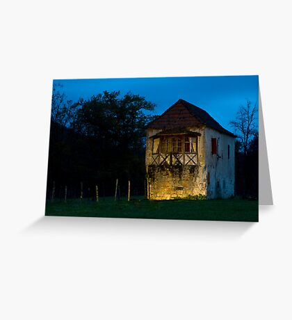 Abandoned Stone House By The River (Lightpainting) Greeting Card