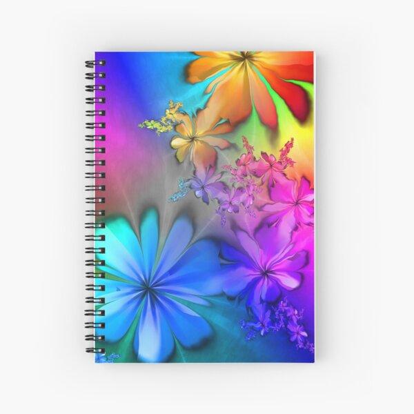 Lyrical Rainbow Summer Days Spiral Notebook