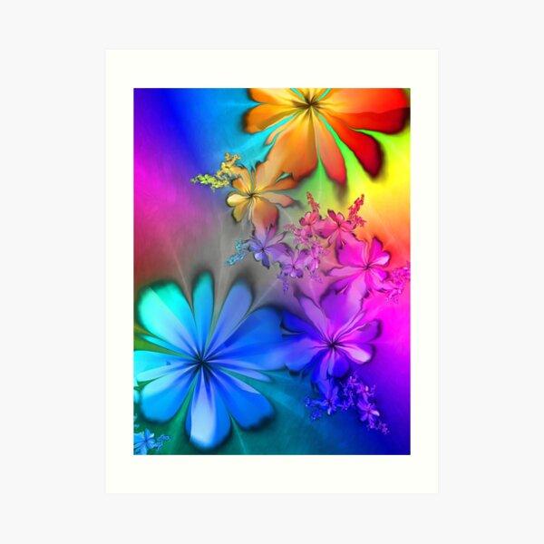 Lyrical Rainbow Summer Days Art Print