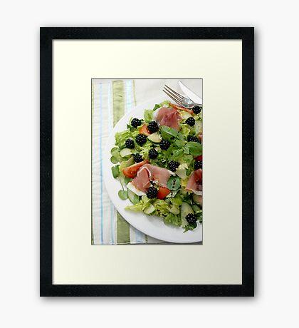 Blackberry Prosciutto Salad Framed Print