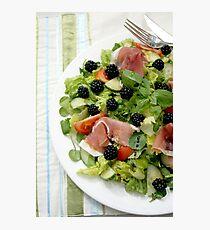 Blackberry Prosciutto Salad Photographic Print