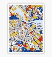 Amsterdam Mondrian map Sticker