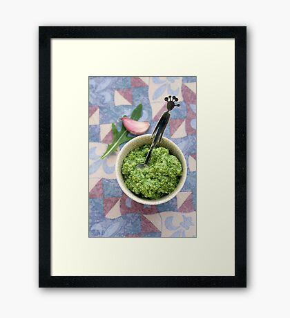Wild rocket pesto Framed Print