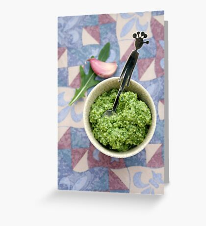 Wild rocket pesto Greeting Card