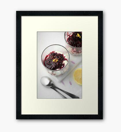 Berry cheesecake Framed Print