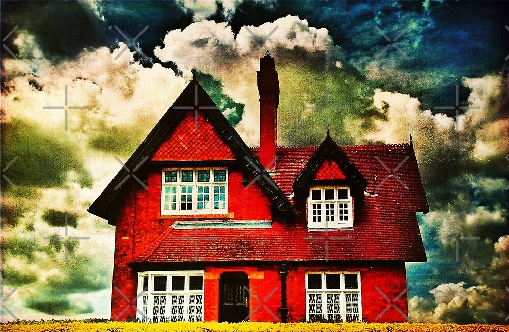 There's A Red House by Denise Abé