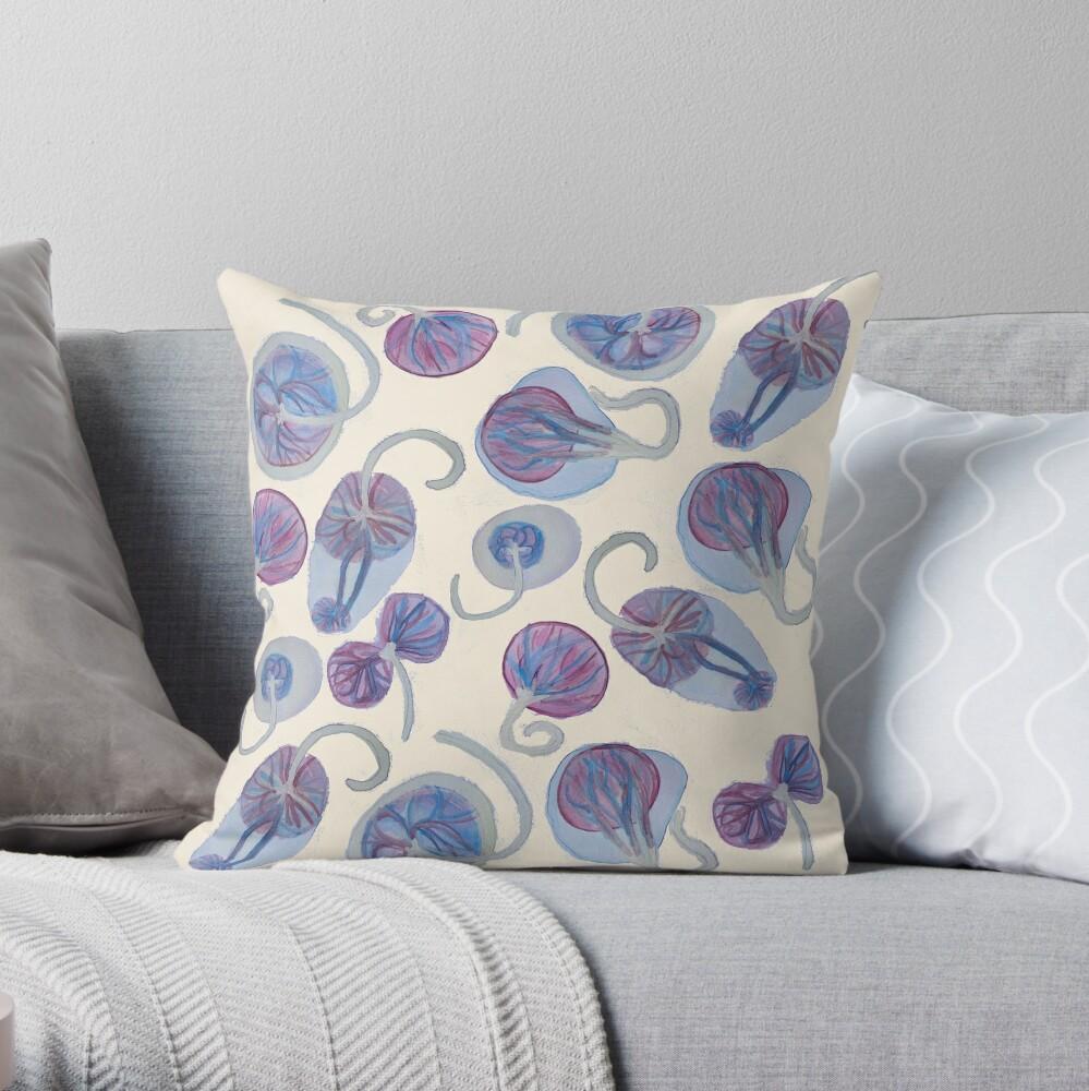 Funky Placenta Print Throw Pillow