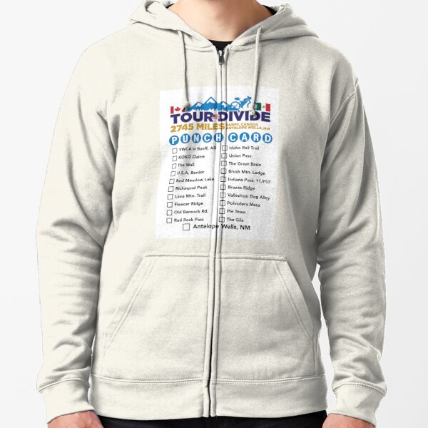 Tour Divide Punch Card Zipped Hoodie