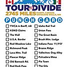 Tour Divide Punch Card by schillingsworth