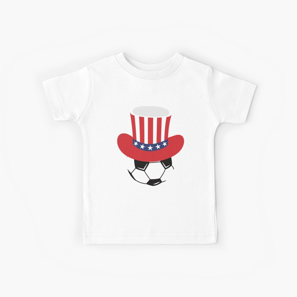 Fourth Of July Soccer Shirt 4th of July USA Flag Tshirt Kinder T-Shirt