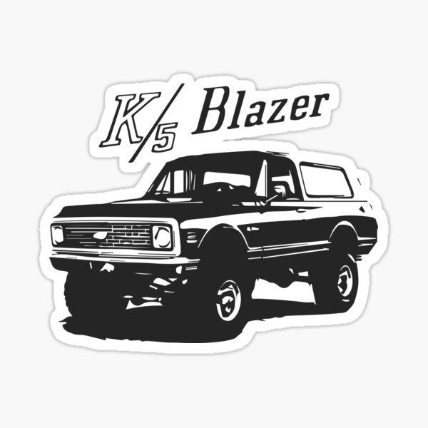 K10 C10 Blazer Decal Old School 3 X 6 Vinyl Sticker vintage cool theme