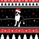 Staffordshire Bull Terrier Ugly Christmas von ilovepaws