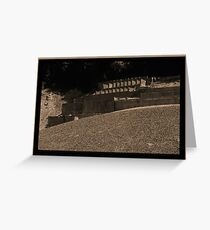 Abandoned Mine Structure Greeting Card
