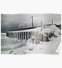 A Harsh Environment - Lake Michigan Poster