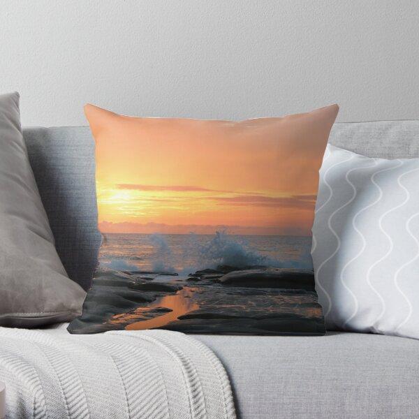 Glory morning on the Sunshine Coast Throw Pillow