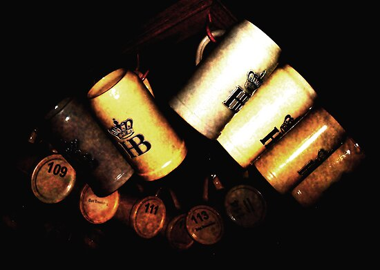 Hofbrau Mugs by Bobbie Bonebrake