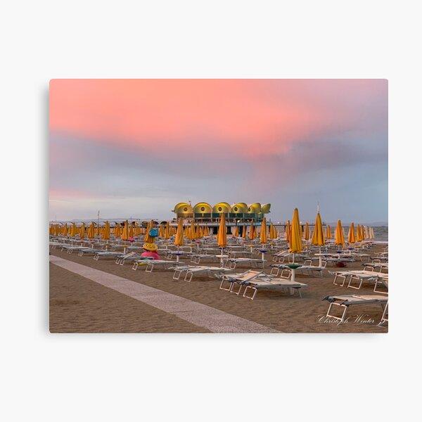 Christoph Winter - Terrazza Mare im Sommer - Lignano Sabbiadoro Leinwanddruck