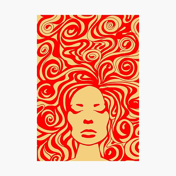 60s psychedelic Photographic Print
