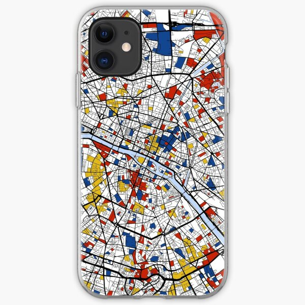 Paris Mondrian map iPhone Soft Case