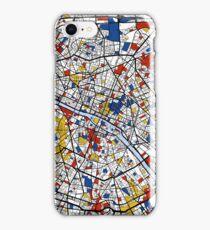 Paris Mondrian map iPhone Case/Skin
