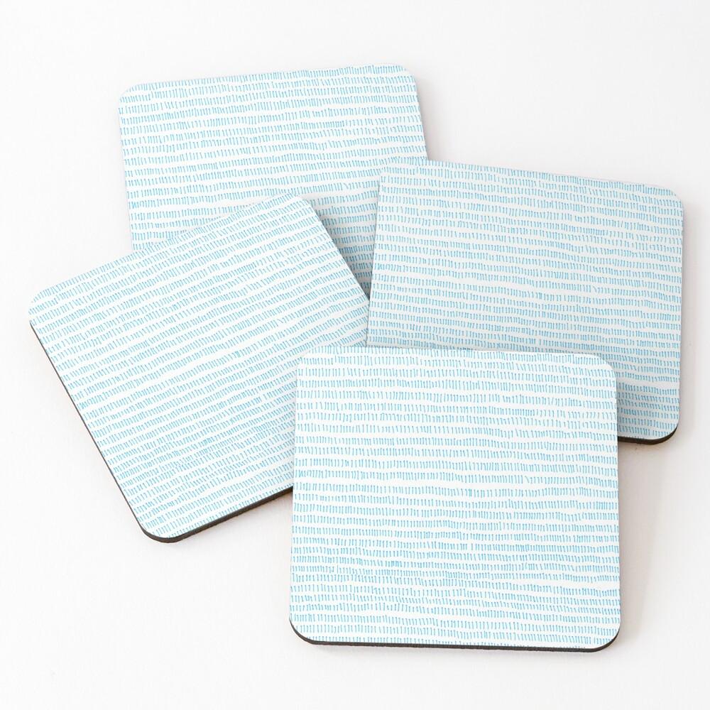 Blue grass - a handmade pattern Coasters (Set of 4)