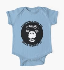 Everything's More Fun With Monkeys! (V2) One Piece - Short Sleeve