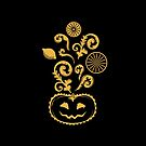 Halloween Siciliano - Pumpkin with Sicilian Cart, Lemons and other sicilian stuff by campobellezza