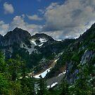Mountains Above brunswick Lake by Michael Garson