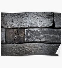 Railroad Ties Stacked Poster