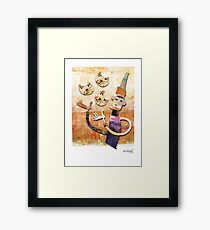 Cat Juggler Framed Print