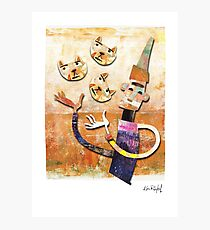 Cat Juggler Photographic Print