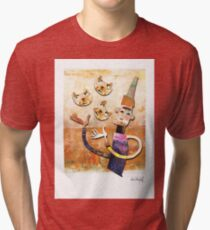 Cat Juggler Tri-blend T-Shirt