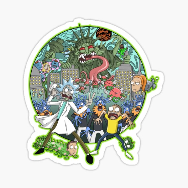 Rick and Morty Earth Dimension C-137 Interdimensional Twist Sticker