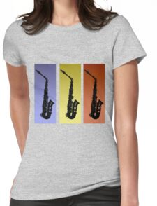 Saxophone T Shirt Womens Fitted T-Shirt