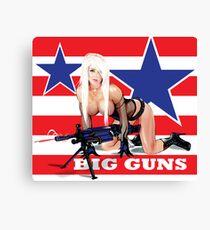 Cammee Lee Big Guns Canvas Print