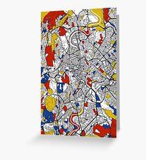 Rome Mondrian map Greeting Card