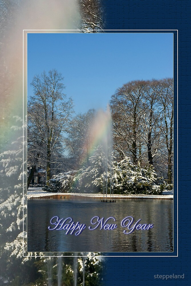 Rainbow fountain - Happy New Year by steppeland
