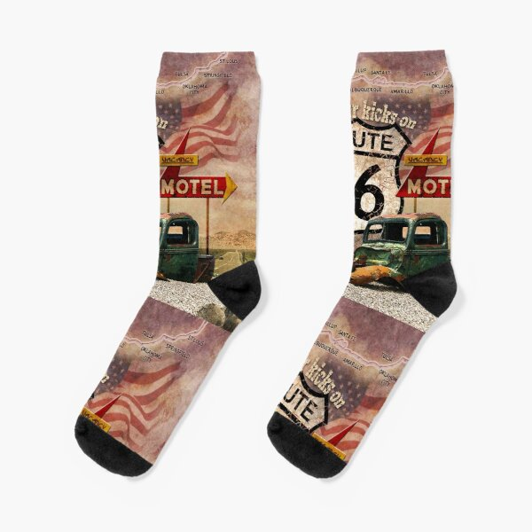 Get your Kicks on Route 66 Socks