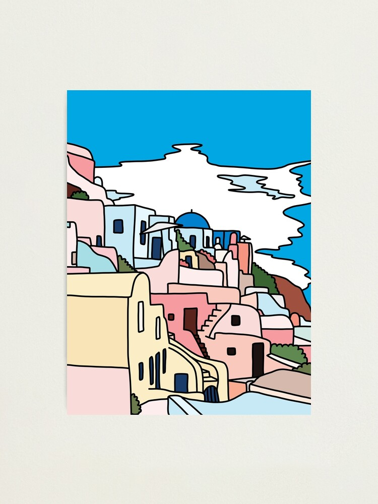 Alternate view of Santorini by Sasa Elebea Photographic Print