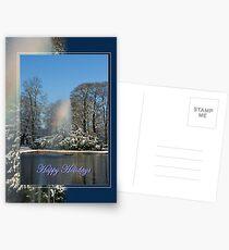 Rainbow Fountain - Happy Holidays Postcards