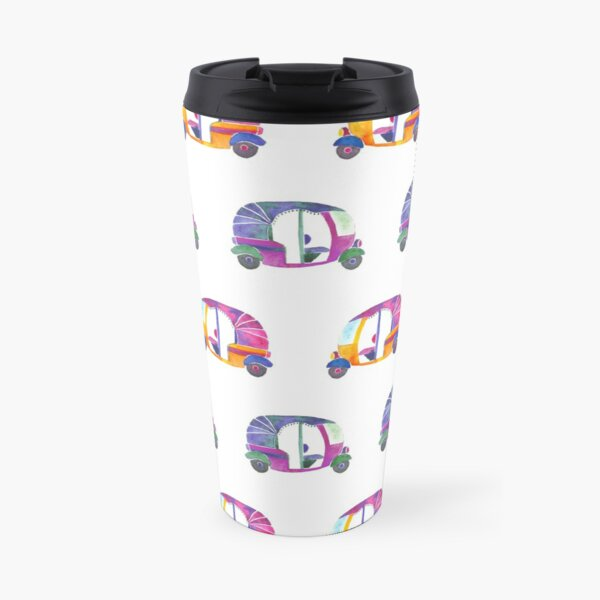 Funky rickshaws pattern  Travel Mug