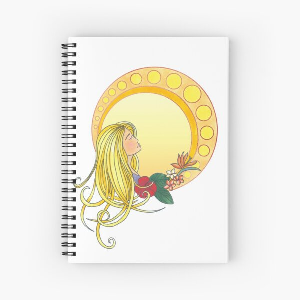 Gold Lady - Art Nouveau style Spiral Notebook
