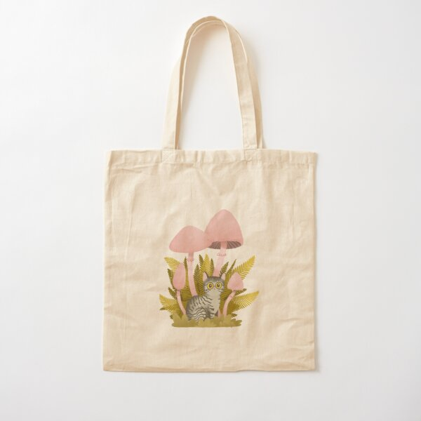 Shroom cat Cotton Tote Bag