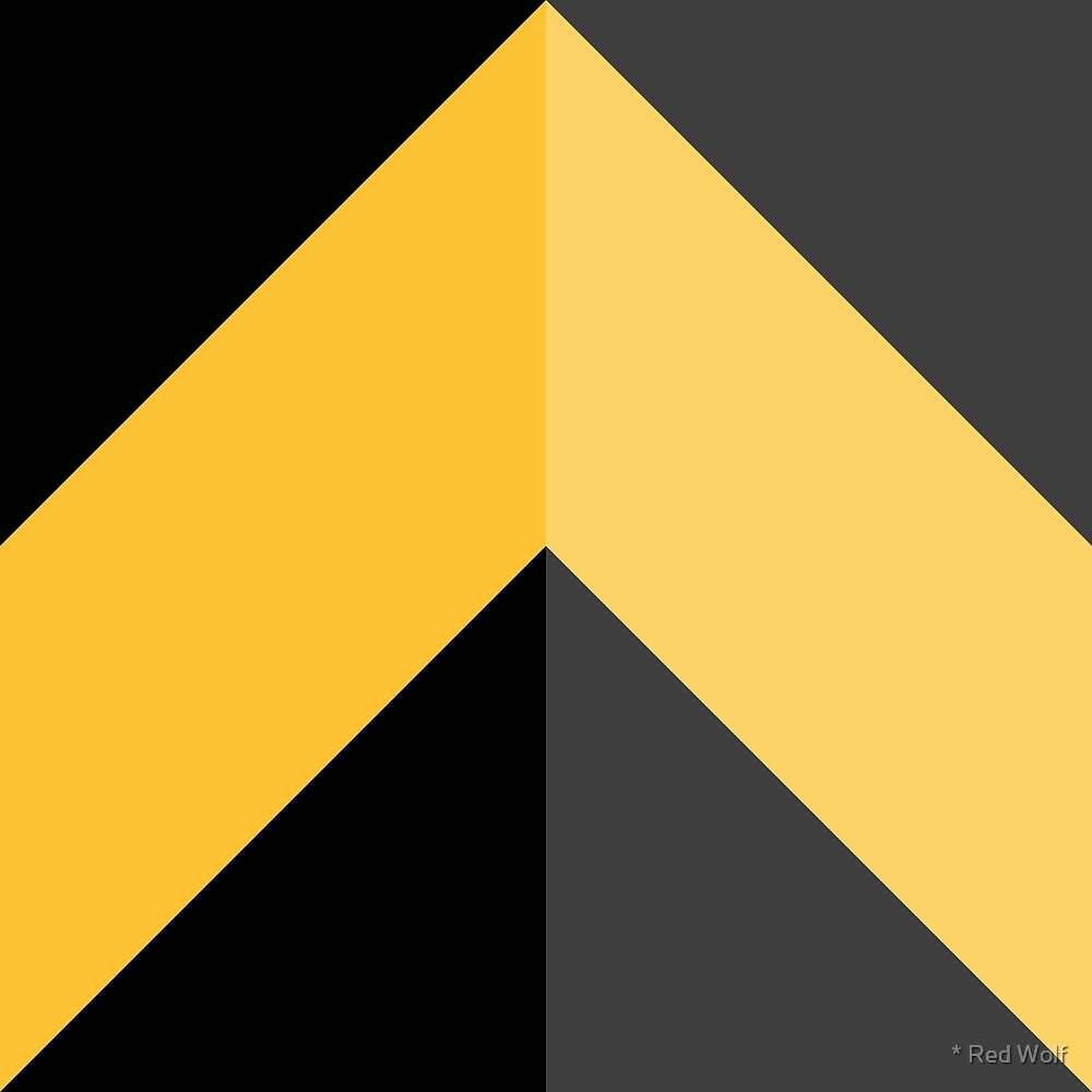 Geometric Pattern: Chevron: Dark/Yellow by * Red Wolf