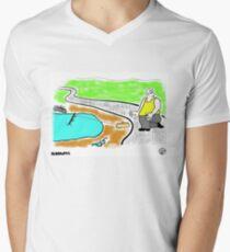 Fish Revenge. Men's V-Neck T-Shirt