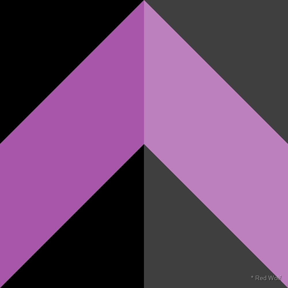 Geometric Pattern: Chevron: Dark/Purple by * Red Wolf
