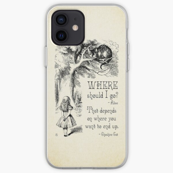 Alice in Wonderland - Cheshire Cat Quote - Where Should I go? - 0118 iPhone Soft Case