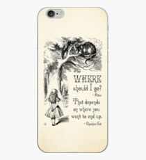 Alice im Wunderland - Cheshire Cat Zitat - Wo soll ich hingehen? - 0118 iPhone-Hülle & Cover