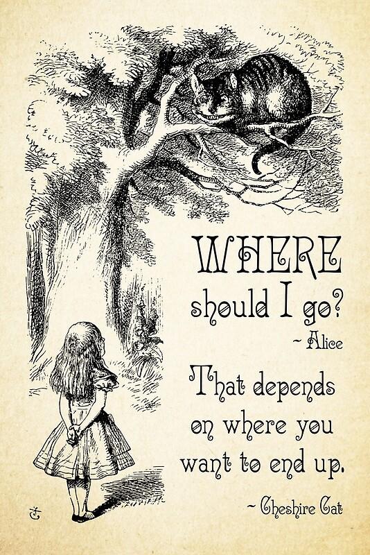 Quot Alice In Wonderland Cheshire Cat Quote Where Should I