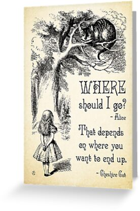 Alice In Wonderland Cheshire Cat Quote Where Should I Go 0118